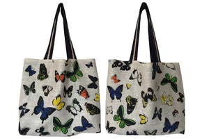 Butterfy effect teatowel tote