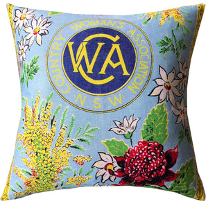 CWA classic Australiana teatowel retro cushion cover