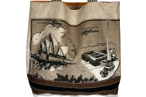 Teatowel shopping tote best gift for mothers day Capital cities of Australia teatowel