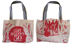 Cliff and the shadows teatowel tote