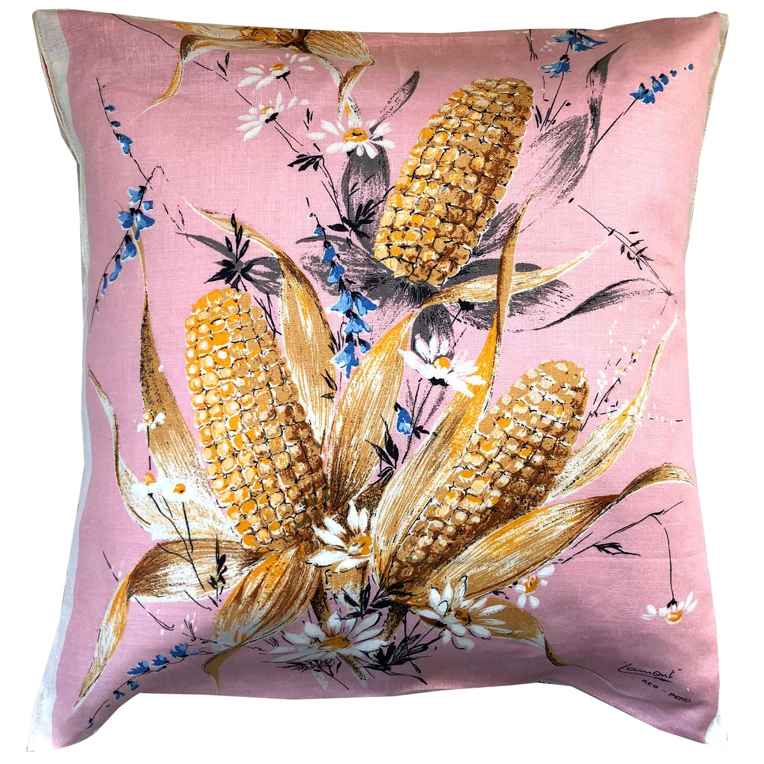Pale pink and ears of corn