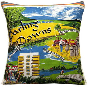 Darling Downs souvenir teatowel cushion cover