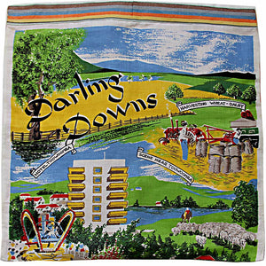 Love And West western Darling Downs linen teatowel cushion cover