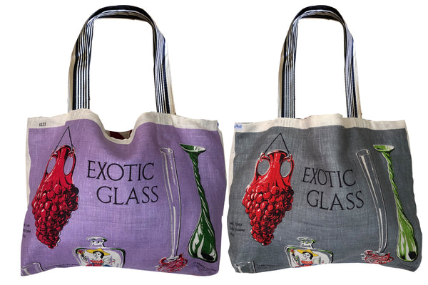 Exotic glass teatowel tote bag