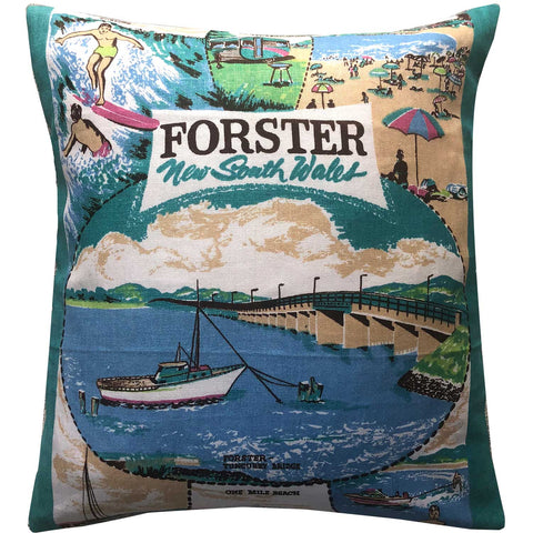 Forster souvenir teatowel cushion cover
