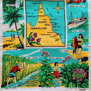 Love And West Cairns Queensland vintage teatowel cushion cover