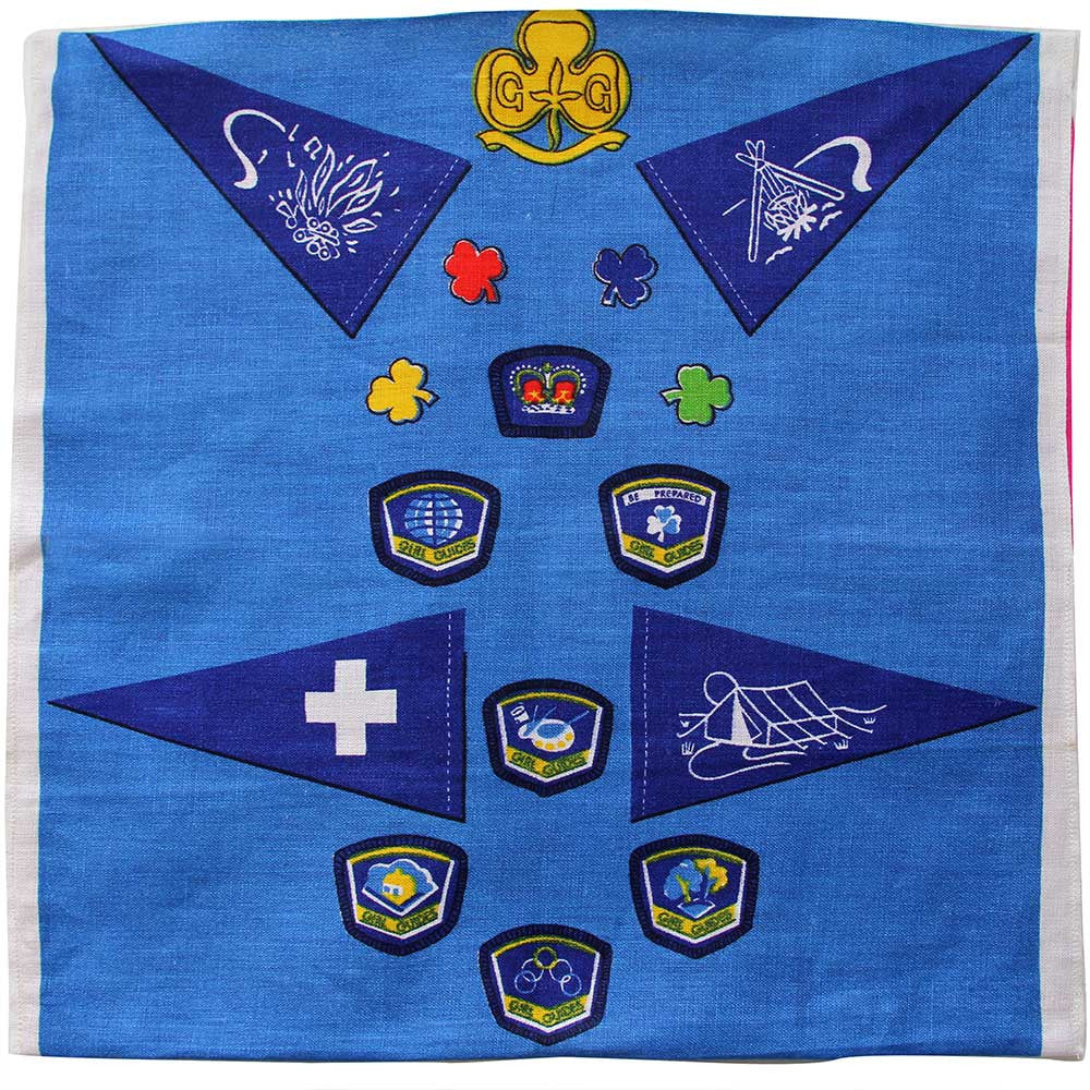 Love And West Girl Guides vintage teatowel cushion cover
