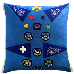 Girl Guides teatowel cushion cover