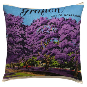 Grafton, city of Jacarandas teatowel cushion cover