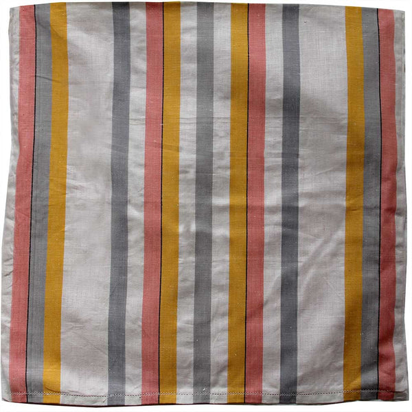 Love And West grey yellow stripe linen teatowel cushion cover