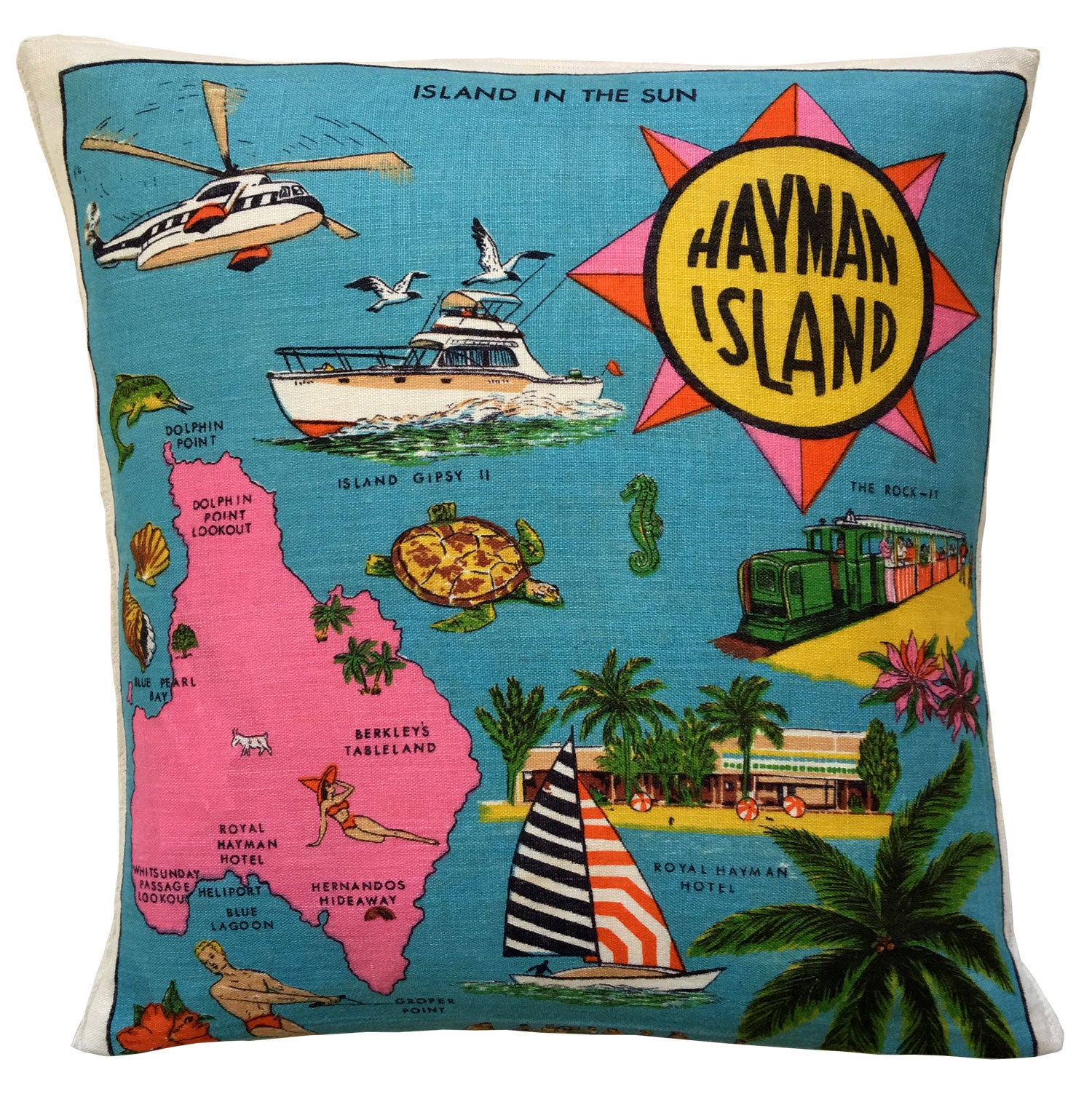 Buy funky Hayman Island cushion cover break the ice at parties
