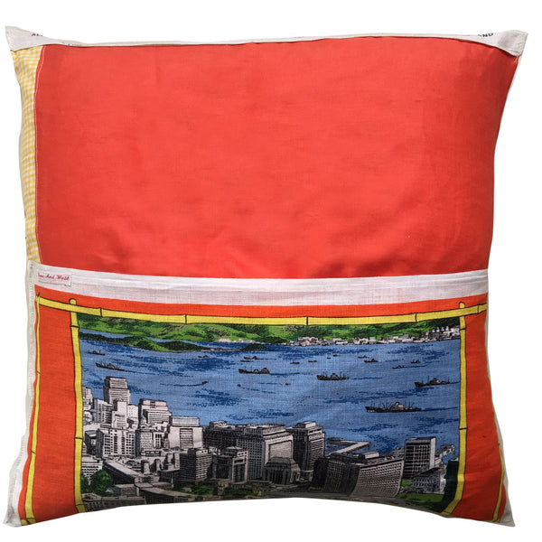 Hong Kong teatowel cushion cover