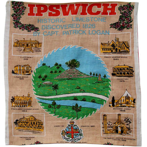 Love And West Ipswich vintage linen teatowel cushion cover