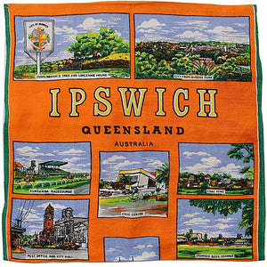 Love And West Ipswich vintage teatowel cushion cover
