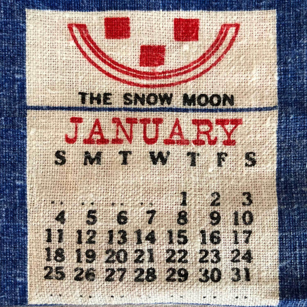 Birthday gift vintage calendar cushion cover