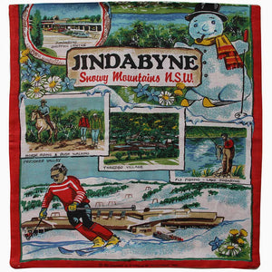 Love And West Jindabyne vintage linen teatowel cushion cover