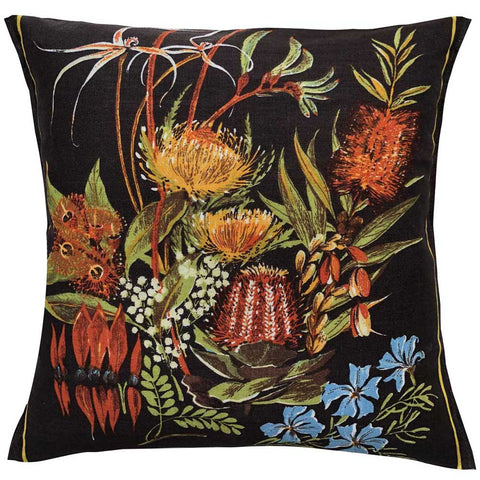 Wildflowers bouquet linen teatowel cushion cover
