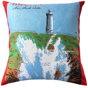 Kiama souvenir teatowel cushion cover