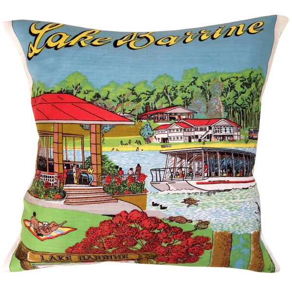 Lake Barrine party teatowel cushion cover