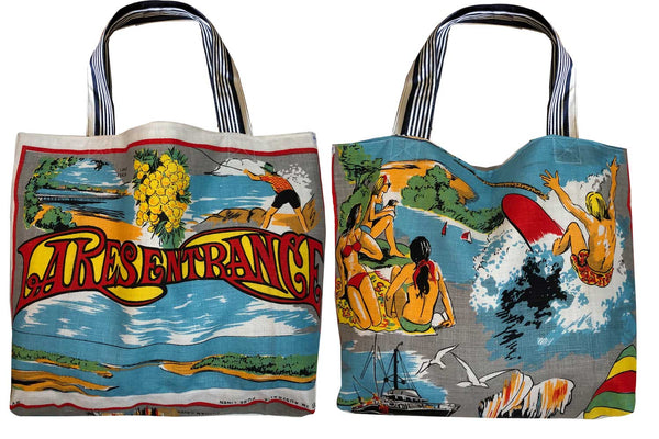 Lakes Entrance souvenir teatowel tote bag
