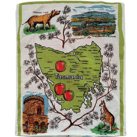 Tasmania souvenir teatowel cushion covers