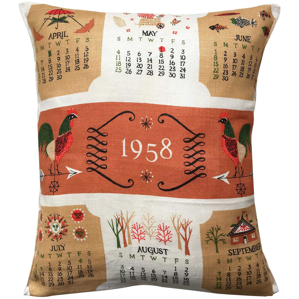 1958 linen teatowel cushion cover
