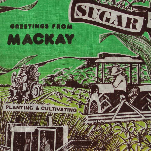 Love And West Mackay Queensland vintage teatowel cushion cover