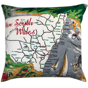 New South wales vintage linen teatowel cushion cover