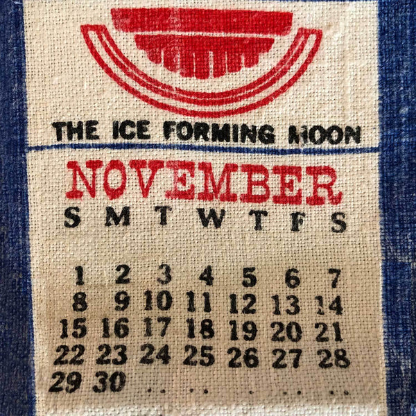 1970 gift vintage calendar cushion cover