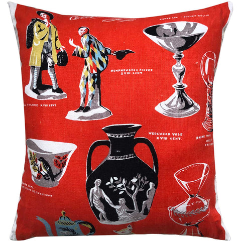 Ornaments and oddities vintage linen teatowel cushion cover