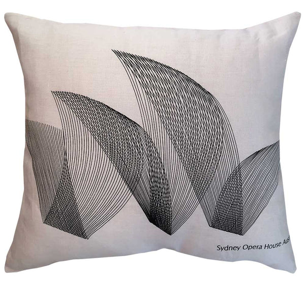 Opera House Sydney line drawn linen teatowel cushion cover
