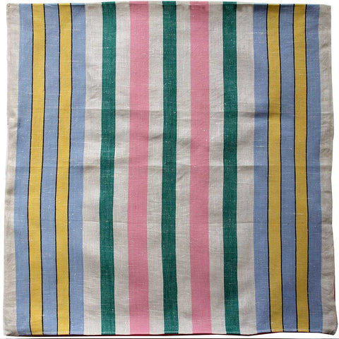 Love And West pink stripe linen teatowel cushion cover