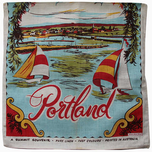 Love And West Portland Victoria vintage teatowel cushion cover