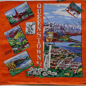 Queenstown New Zealand souvenir teatowel cushion cover
