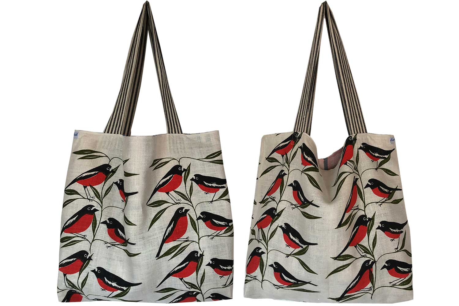 Robin red-breast sweet teatowel tote