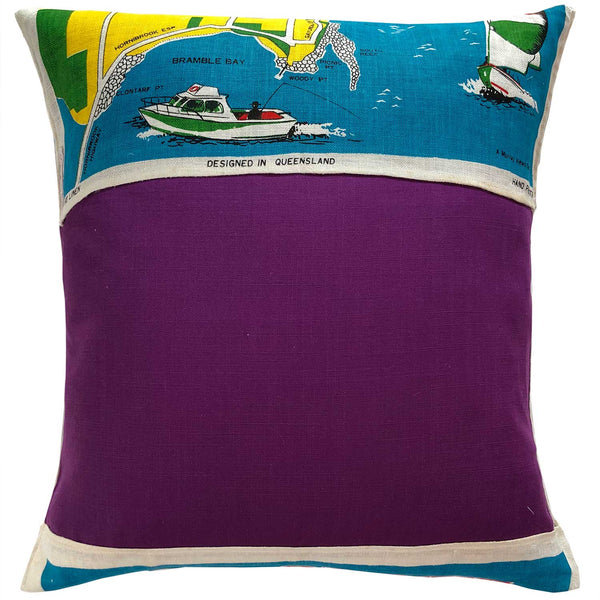 Redcliffe Peninsula teatowel cushion cover reverse