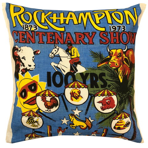 Rockhampton Show Centenary retro cushion cover
