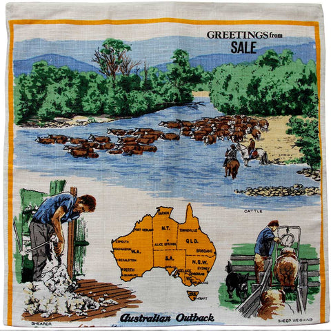 Love And West Sale, Victoria, vintage linen teatowel cushion cover