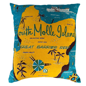 South Molle Island vintage linen souvenir teatowel cushion cover