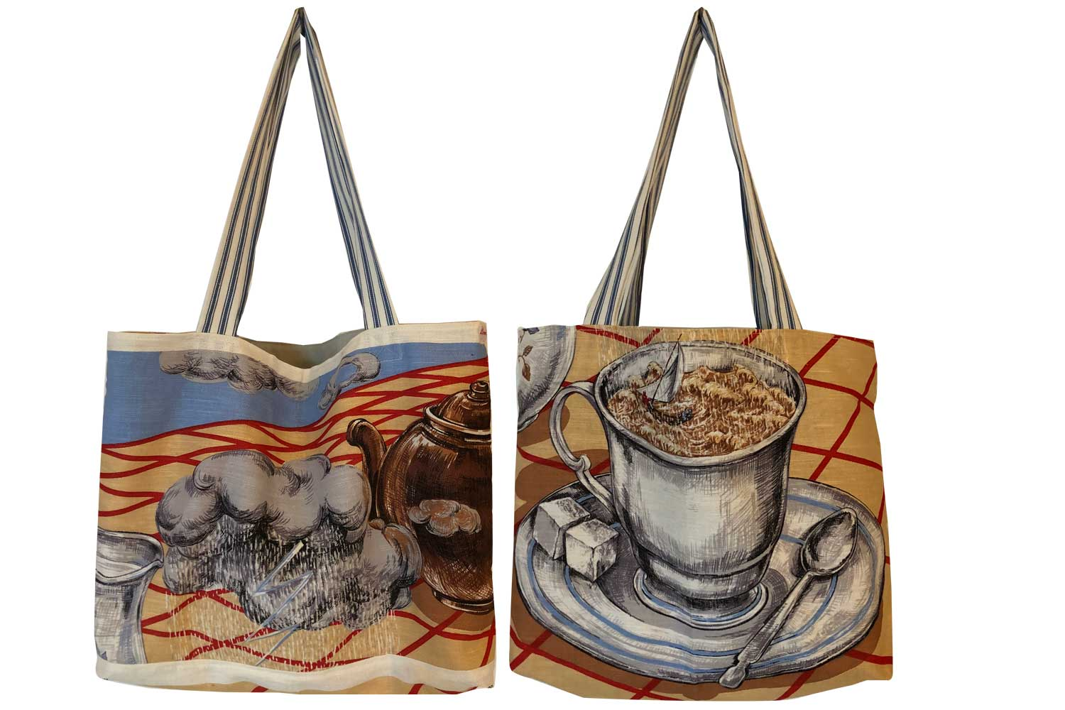 Storm in a teacup teatowel tote