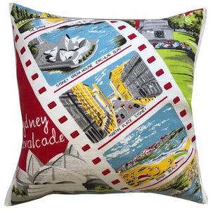 Sydney souvenir retro  teatowel cushion cover