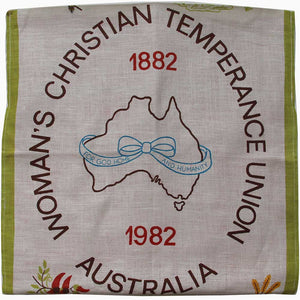 Love And West Women's Temperance Union vintage teatowel cushion cover