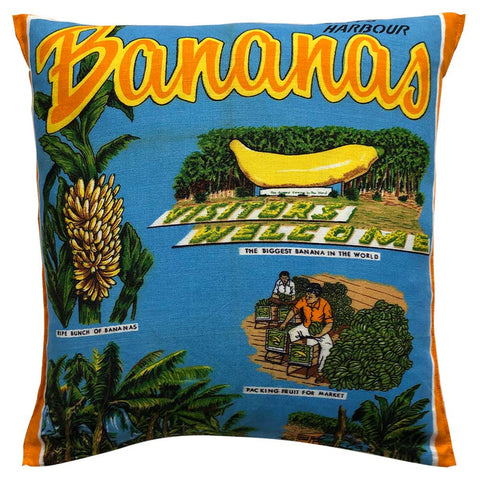The Big Banana Coffs Harbour souvenir teatowel cushion cover