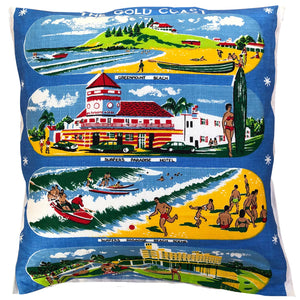 Gold Coast souvenir teatowel cushion cover