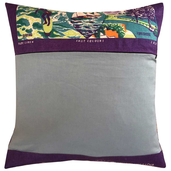 The entrance new south wales vintage linen teatowel cushion cover