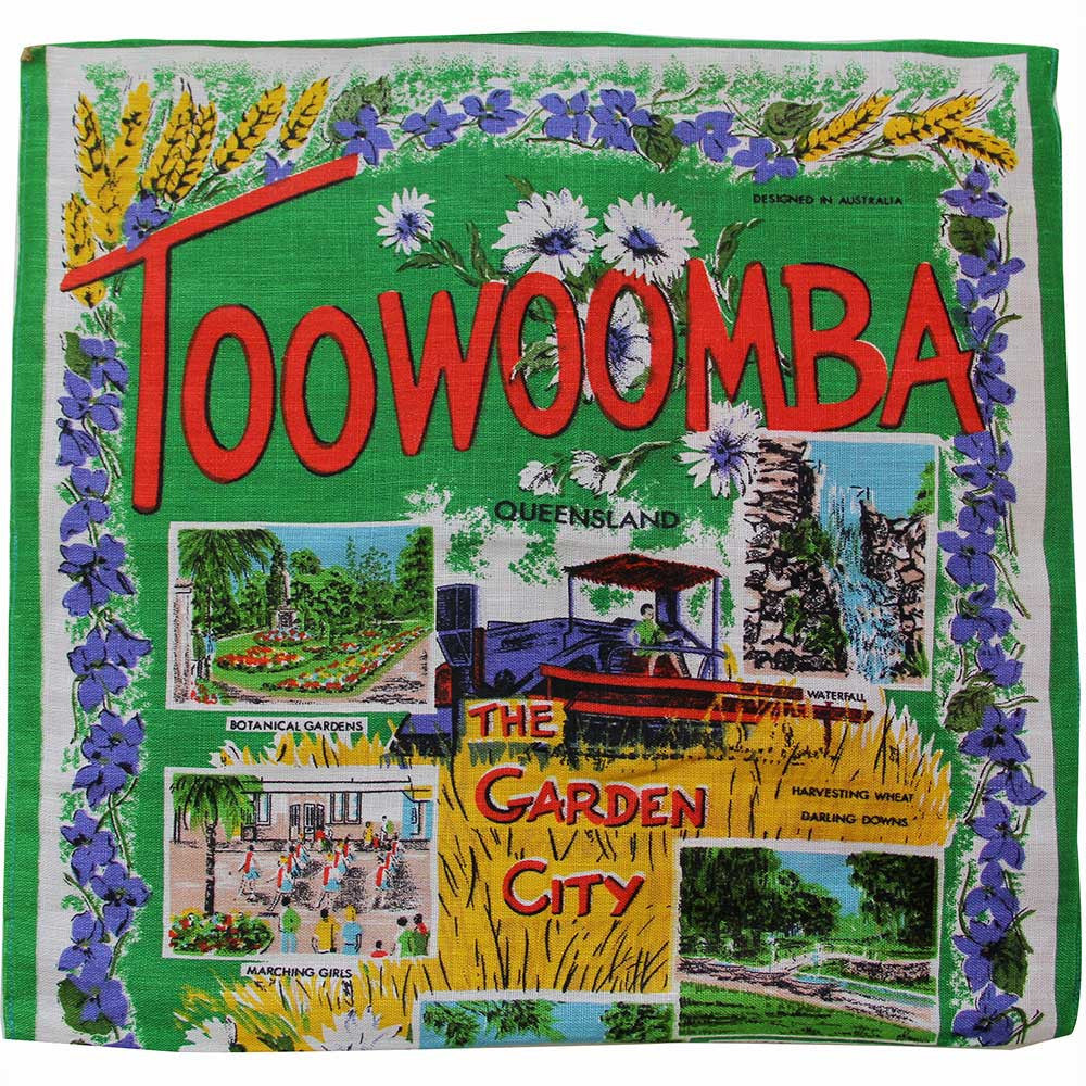 Love And West Toowoomba vintage teatowel cushion cover