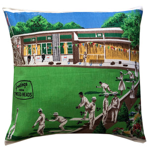 Tweed Bowlo teatowel cushion cover