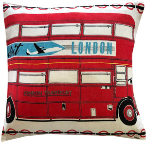 London Routemaster souvenir teatowel cushion cover