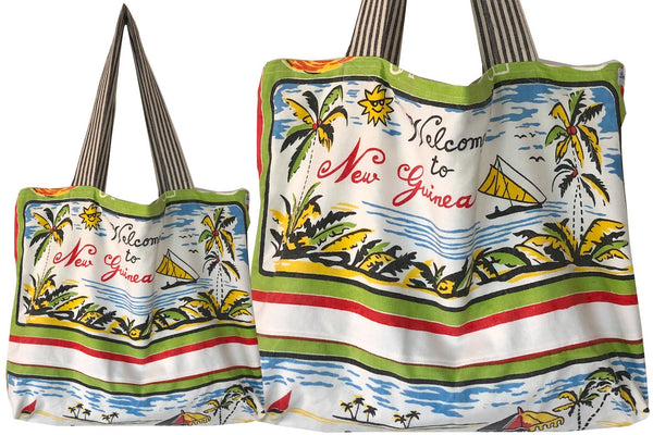 Welcome to New Guinea Teatowel tote