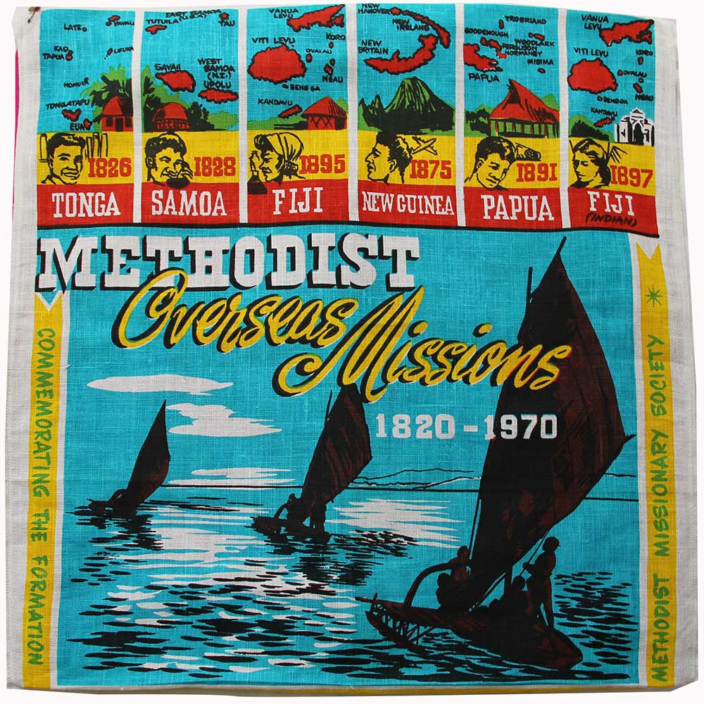 Methodist Overseas Missions teatowel cushion cover